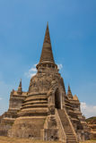 Pagoda of wat phra sri sanphet. Thailand Stock Photo