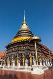 Pagoda Wat Phrathat Lampang Luang, dans le pays de la Thaïlande Images libres de droits