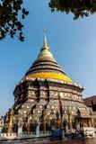 Pagoda Wat Phrathat Lampang Luang, in paese della Tailandia Fotografia Stock Libera da Diritti