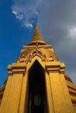 Pagoda at Wat Prakeaw. The ancient golden mosaic pagoda at Wat Prakeaw Royalty Free Stock Photos