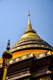 The Pagoda of Wat Prathat Lampang Luang Stock Image