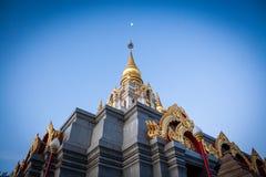 Pagoda Wat Santikhiri di Sinakarintra Stit Mahasantikhiri in Doi Mae Salong, Chiang Rai Province, Tailandia del Nord fotografia stock libera da diritti