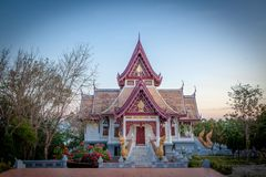 Pagoda Wat Santikhiri di Sinakarintra Stit Mahasantikhiri in Doi Mae Salong, Chiang Rai Province, Tailandia del Nord fotografie stock libere da diritti