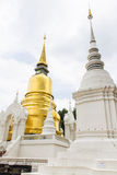 Pagoda at Wat Suan Dok in Chiang Mai, Thailand Stock Photos