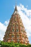Pagoda at Wat Tham Sua, famous temple in Kanchanaburi Thailand Royalty Free Stock Photo