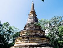 Pagoda. Wat Umong is Chiang Mai`s only forest temple Royalty Free Stock Photos