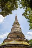 Pagoda in Wat Umong, Chiangmai, Thailand Stock Photo