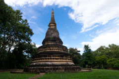The pagoda of Wat Umong temple in Chiangmai Thailand stock photos