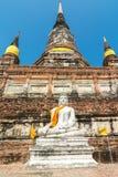 Pagoda at Wat Yai Chaimongkol, Ayuthaya,Thailand Royalty Free Stock Images