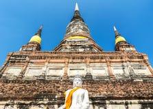 Pagoda at Wat Yai Chaimongkol, Ayuthaya,Thailand Royalty Free Stock Image