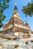 Pagoda at Wat Yai Chaimongkol, Ayuthaya,Thailand Royalty Free Stock Photos