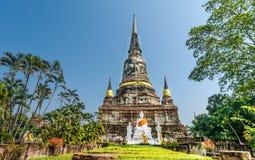 Pagoda at Wat Yai Chaimongkol, Ayuthaya,Thailand Stock Photography