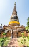 Pagoda at Wat Yai Chaimongkol, Ayuthaya,Thailand Stock Photography