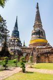 Pagoda at Wat Yai Chaimongkol, Ayuthaya,Thailand Stock Photos