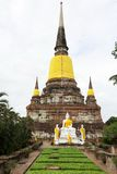 Pagoda at Wat Yai Chaimongkol, Ayutthaya, Thailand Royalty Free Stock Photos