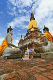 Pagoda of Wat Yai Chaimongkol Royalty Free Stock Image