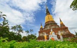 Pagoda of Wat Yai Chaimongkol Stock Image