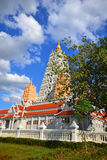 Pagoda in Wat Yansangwararam. The reproduction from  pagoda in India Royalty Free Stock Photography