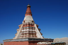 Pagoda in west tibet. A  traditional  buddha pagoda  in Ali area,west Tibet Royalty Free Stock Photo