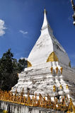 Pagoda. A white pagoda in Loie in Thailand Royalty Free Stock Photography