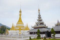 Pagoda white of Wat Chong Klang , Mae Hong Son, Thailand Stock Photography
