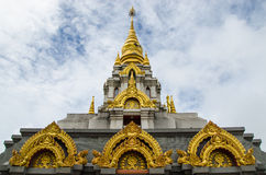 The pagoda wihe blue sky. And white cloud Royalty Free Stock Photography