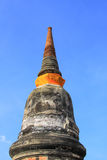 Pagoda wiht blue sky at Ayuthaya, Thailand stock photos