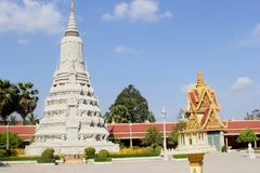 Pagoda worship altar, Royal Palace, Phnom Penh Royalty Free Stock Images