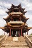 Pagoda Wuxi Cina dell'isola della tartaruga Fotografie Stock Libere da Diritti