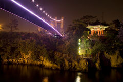 Pagoda y un puente Foto de archivo