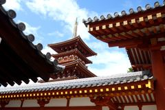 Pagoda of Yakushi-ji Temple Royalty Free Stock Photography