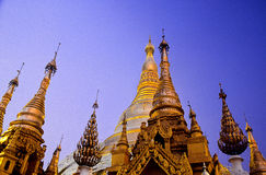 Pagoda- Yangon, Birmania (Myanmar) di Schwedagon immagine stock libera da diritti