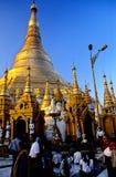 Pagoda- Yangon de Schwedagon, Burma (Myanmar) Imagem de Stock