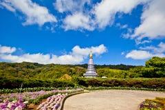 Pagodaen - Chiangmai, Thailand Arkivbilder