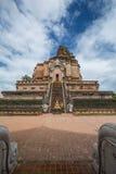 Pagodajedeeloung在Chiangmai北泰国 库存照片