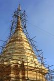 pagodarekonstruktiontempel Arkivfoton
