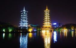Pagodas в Guilin, Китае Стоковое Изображение RF