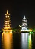 pagodas озера guilin баньяна городские Стоковые Фото