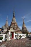 Pagodas 01. Pagodas at Wat Pho in Bangkok Stock Images