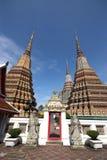 Pagodas 03. Pagodas at Wat Pho in Bangkok, Thailand Stock Photography