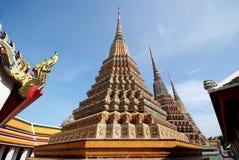 Pagodas 04. Wat Pho temple in Bangkok, Thailand Stock Images