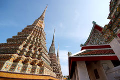 Pagodas 05. Wat Pho temple in Bangkok, Thailand Stock Photos