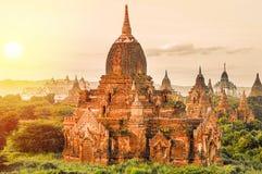 Pagodas antiques dans Bagan Images libres de droits