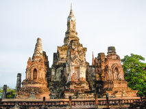Pagodas architecture of northern thailand. Old pagoda made ​​of cement in northern Thailand Stock Photography