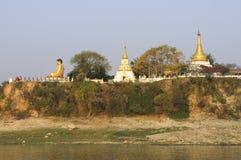 Pagodas on Ayeyarwady Royalty Free Stock Photography