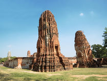 Pagodas in Ayutthaya Royalty Free Stock Images