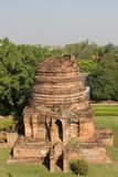 Pagodas in Ayutthaya. Architecture with a focus on history in Ayutthaya, Thailand Royalty Free Stock Photos