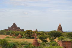 Pagodas in Bagan Royalty Free Stock Photography