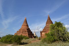 Pagodas in Bagan Royalty Free Stock Image