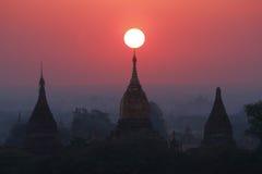 Pagodas , Bagan, Myanmar Stock Image
